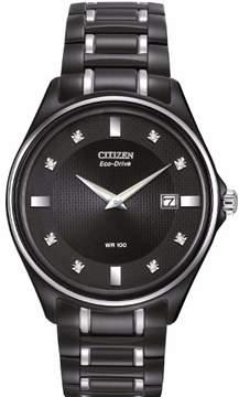 Citizen Eco-Drive AU1054-54G Black Dial Watch