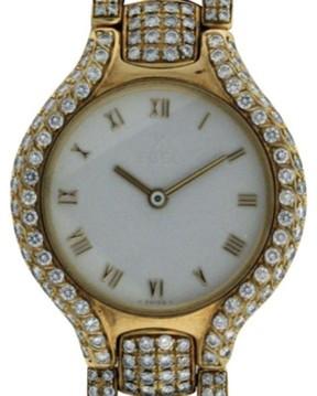 Ebel Beluga 18K Yellow Gold with Diamonds Womens Watch 24mm