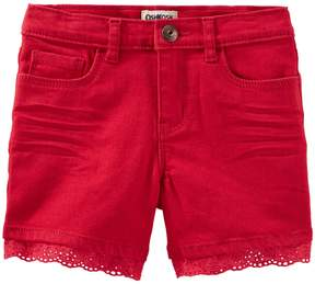 Osh Kosh Oshkosh Bgosh Girls 4-12 Eyelet-Trim Shorts