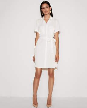 Express Short Sleeve Shirt Dress