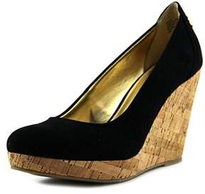 Thalia Sodi Miaa Open Toe Canvas Wedge Heel.