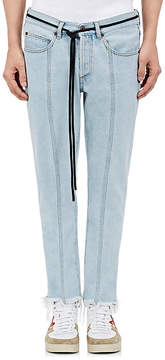 Off-White Men's Frayed Crop Straight Jeans
