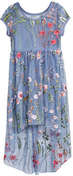 Bonnie Jean Little Girls Embroidered Layered-Look Dress