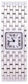 Cartier Panthere Ruban 2420 Stainless Steel White Dial 21mm Womens Watch