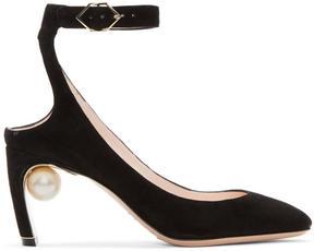 Nicholas Kirkwood Black Lola Pearl Heels
