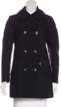Belstaff Leather-Trimmed Wool Coat