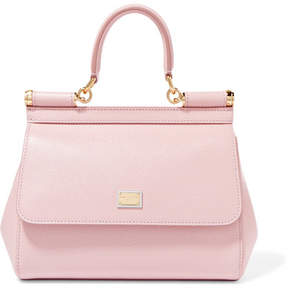 Dolce & Gabbana Sicily Small Textured-leather Tote - Baby pink - BABY PINK - STYLE