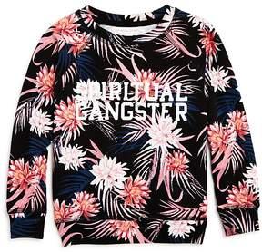 Spiritual Gangster Girls' Tropics Logo Sweatshirt - Little Kid, Big Kid