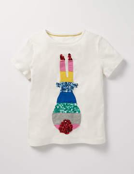 Boden Sequin Rainbow T-shirt