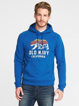 Old Navy Graphic Fleece Pullover Hoodie for Men