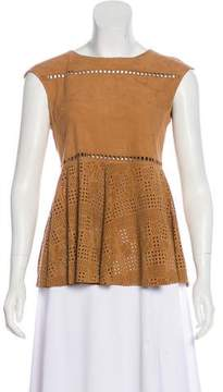 Drome Sleeveless Suede Top w/ Tags