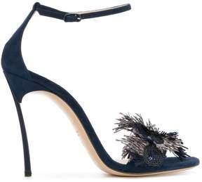 Casadei fringe embellished sandals