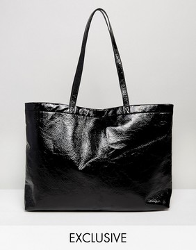 Monki Vinyl Tote Bag