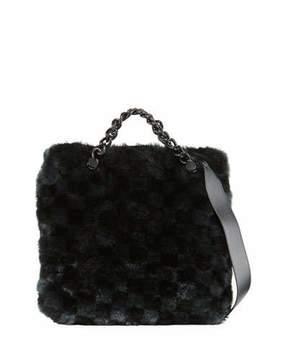 Kendall + Kylie Van Faux-Fur Large Clutch Bag