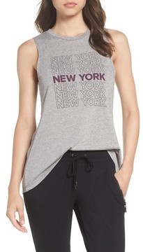 David Lerner Women's New York High/low Muscle Tank