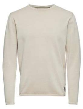 ONLY & SONS Washed-Out Cotton Pullover