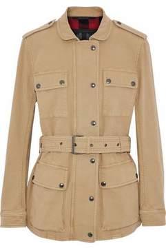 Belstaff Belted Cotton-Blend Canvas Jacket