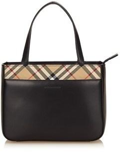 Burberry Pre-owned: Leather Handbag. - BLACK X MULTI - STYLE