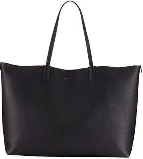 Alexander McQueen Large Textured Shopper Tote Bag, Black