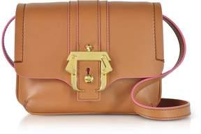 Paula Cademartori Pecan Brown Leather Gigi Crossbody Bag