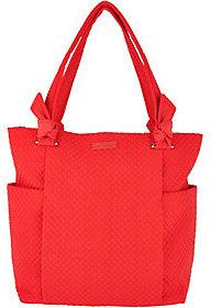 Vera Bradley As Is Microfiber Hadley Shopper Handbag