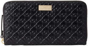 Kate Spade Black Penn Place Embossed Leather Neda Wallet