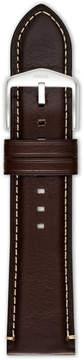 Fossil Dark Brown Leather 24mm Watch Strap