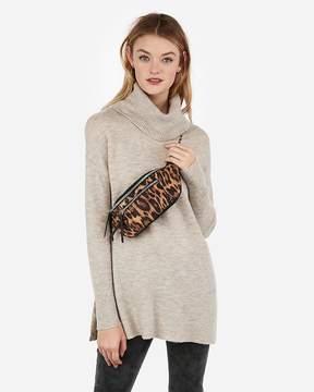 Express Leopard Print Chain Strap Belt Bag