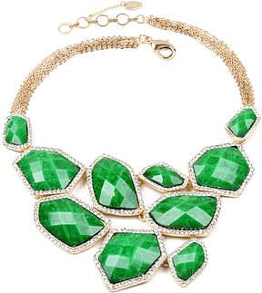 Amrita Singh Austrian Crystal & Evergreen Easter Island Statement Necklace