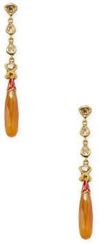 Amrapali Women's Diamond and Onyx Earrings
