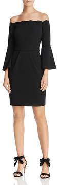 Aqua Scuba Off-the-Shoulder Bell Sleeve Dress - 100% Exclusive