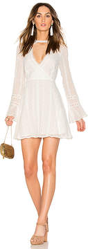 Endless Rose Flared Lace Dress with Bell Sleeves