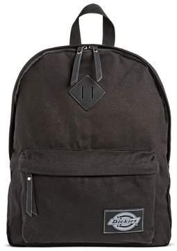 Dickies Women's Canvas Backpack Handbag with Zip Closure - Black