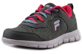 Fila Lite Motion Heather Youth Round Toe Canvas Gray Sneakers.