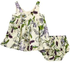 Tea Collection Floral Wallpaper Party Dress & Bloomers Set (Baby Girls)