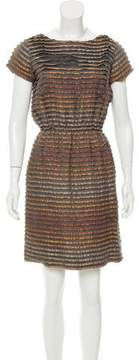 Behnaz Sarafpour Striped Silk-Blend Dress