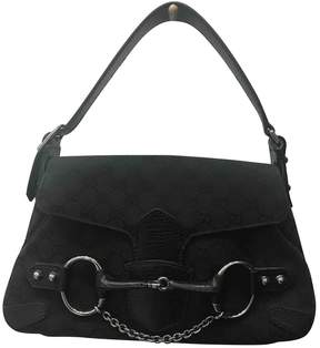Gucci GG cloth handbag - BLACK - STYLE