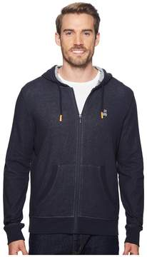 Psycho Bunny Double Face Hoodie w/ Printed Interior Logo Men's Sweatshirt