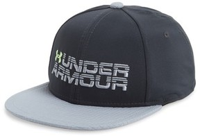 Under Armour Boy's Logo Snapback Hat - Black