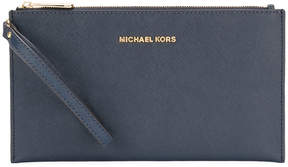 MICHAEL Michael Kors logo stamp clutch - BLUE - STYLE