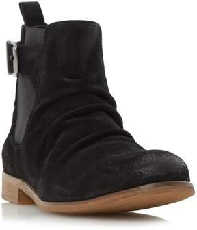 Dune London CASPER - BLACK Buckle Strap Ruched Boot