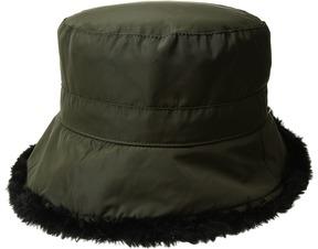 Scala Packable Cloche w/ Faux Fur Caps
