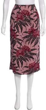 Dries Van Noten Printed Midi Skirt w/ Tags