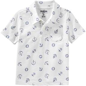 Osh Kosh Oshkosh Bgosh Toddler Boy Anchors Pocket Polo