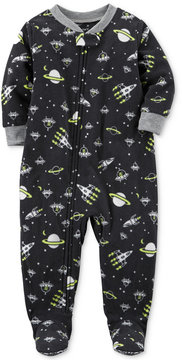 Carter's 1-Pc. Space-Print Glow-In-The-Dark Footed Fleece Pajamas, Toddler Boys (2T-5T)