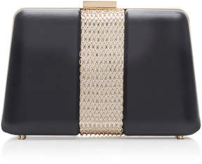 Lanvin Chain Embellished Leather Box Clutch