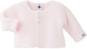 Petit Bateau Knitted wool and cotton-blend cardigan 1-12 months
