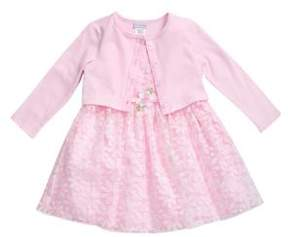 Sweet Heart Rose Sweetheart Rose Baby Girl's Daisy Mesh Dress with Cardigan