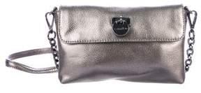 Calvin Klein Metallic Leather Flap Bag