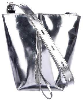 Kara Metallic Panel Pail Bucket Bag